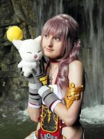 Serah and Mog by memoire-hana