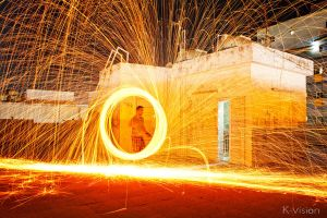 Spinning Steel Wool by Khaled-vision