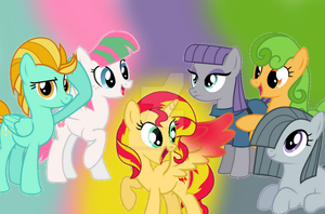Sunset Shimmer's Friends~ by RealPinkieDianePie