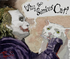 Why So Serious Cat? by Skeleton-Boy