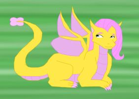 My little Dragon Fluttershy by kittypetro