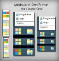 Windows 8 Start Button for Classic Shell by Moorhuhnfreak