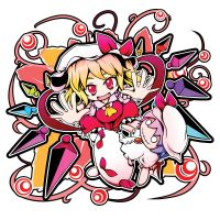 Flandre and Remi doll by sora-amaori