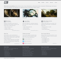Personal website design v2 by ekanz