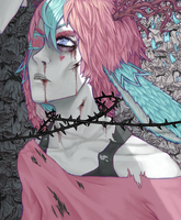 rotten roses by psychiartistic
