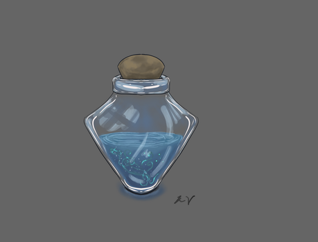 Blue potion by ashenmoons