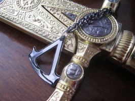 Assassins Creed Pendant - 3 by Silverthink