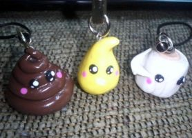 Best Friend Charm Set (3) :For Sale or Trade: by ChloeyLovesLlamas