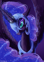 MLP Villain Portrait: Nightmare Moon by Mayocat