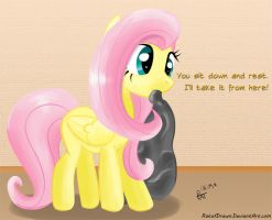 Fluttershy Is Here To Help by RatofDrawn