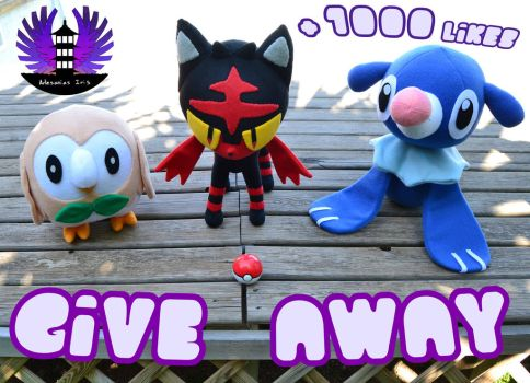 CLOSED - GIVE AWAY SUN AND MOON STARTER PLUSH by ArtesaniasIris