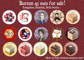 Buttons for sale- storenvy by Alix-Aethusa
