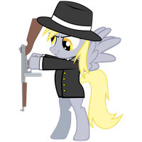 Gangster Derpy (Fix) by zakbo1337