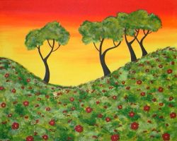 More Poppy Fields Piece 2 by ToniTiger415