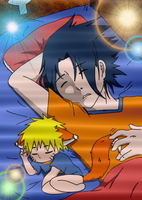 Sasuke Naruto - Sleeping with my Little Fox by SupremeDarkQueen