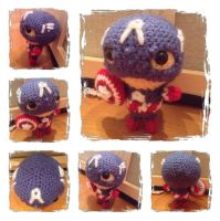 Chibi Captain America Plush by Art-in-motion-1