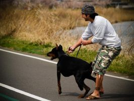 Japan's Warmth - Man and Dog by levi88
