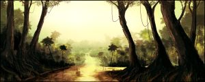 Speedpaint_16 - The Jungle by SkipeRcze