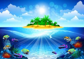 Dream-sea-background by vectorbackgrounds
