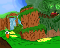 Banjo-Kazooie - Spiral Mountain (Painted Style) by Skettche