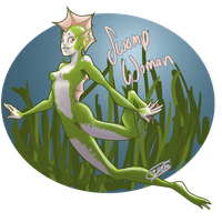 2013: 31 Day Monster Pinups - Swamp Woman by Illzie