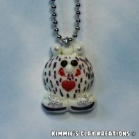 Polymer Clay Monster Figurine Charm Necklace by KIMMIESCLAYKREATIONS