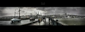 A Snowy Galata Panorama by sinademiral