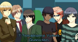 7 Troublesome Virtues Chars by venus-eclipse