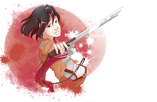 AOT-Mikasa Ackerman by CrystleIceFire