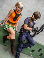 Leon S. Kennedy and Ashley Graham cosplay by erickzeros