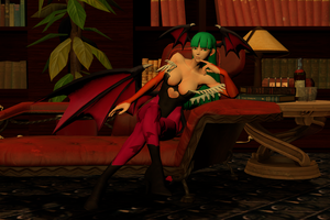 Morrigan Lounging by GenSamus