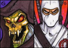 Skeletor and Storm Shadow by grantgoboom
