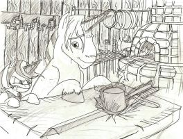 mithril and adamantine at work by pineapplejoey