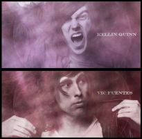 Kellin Quinn and Vic Fuentes Signatures by fueledbychemicals