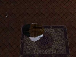 Two sims, one rug. by Andrea-Perry