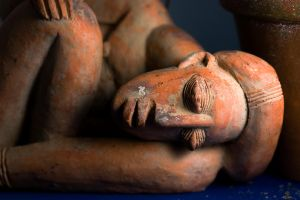 African Clay Form Taking Rest by koprods