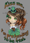 St Patrick's day: Kiss Me by Jivra