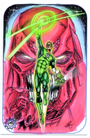 GREEN LANTERN SKETCH CARD by chrisfurguson