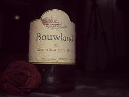 Wine and a rose by Bouwland