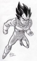 Vegeta - Sketch #4 by Jaylastar