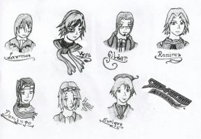 Skies of Arcadia Characters by Syreren