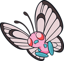 Butterfree Pink Anime by lightmike