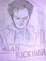 Alan Rickman as the Metatron by Isaacsporcaelus