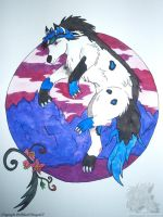[Bday Gift] A wolf in a medallion ... by BlackDragon07