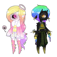 [xynthii adopt] Albinism and Melanism (CLOSED) by KatVizionz