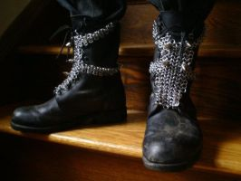 Chain boots - spikes by MetalArtisan