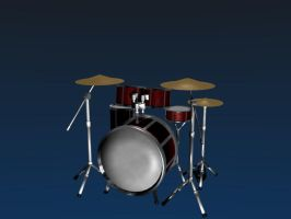 Drum Kit Model by Nragemachine