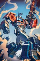 Transformers RID #6 cover colors by khaamar
