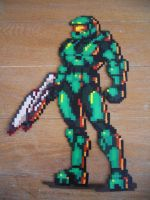 Master Chief Halo Bead Sprite by SerenaAzureth