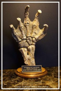 CREATURE FROM THE BLACK LAGOON - HAND FOSSIL by artdawg1x